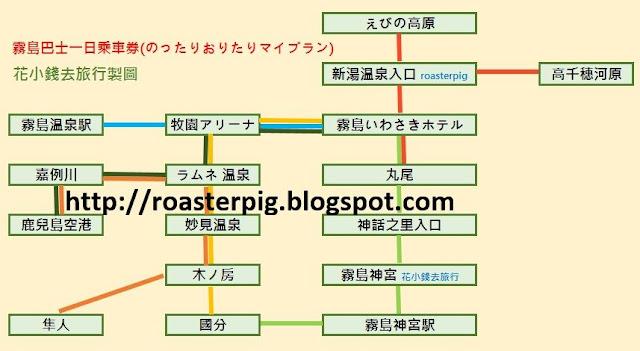 霧島巴士PASS路線圖