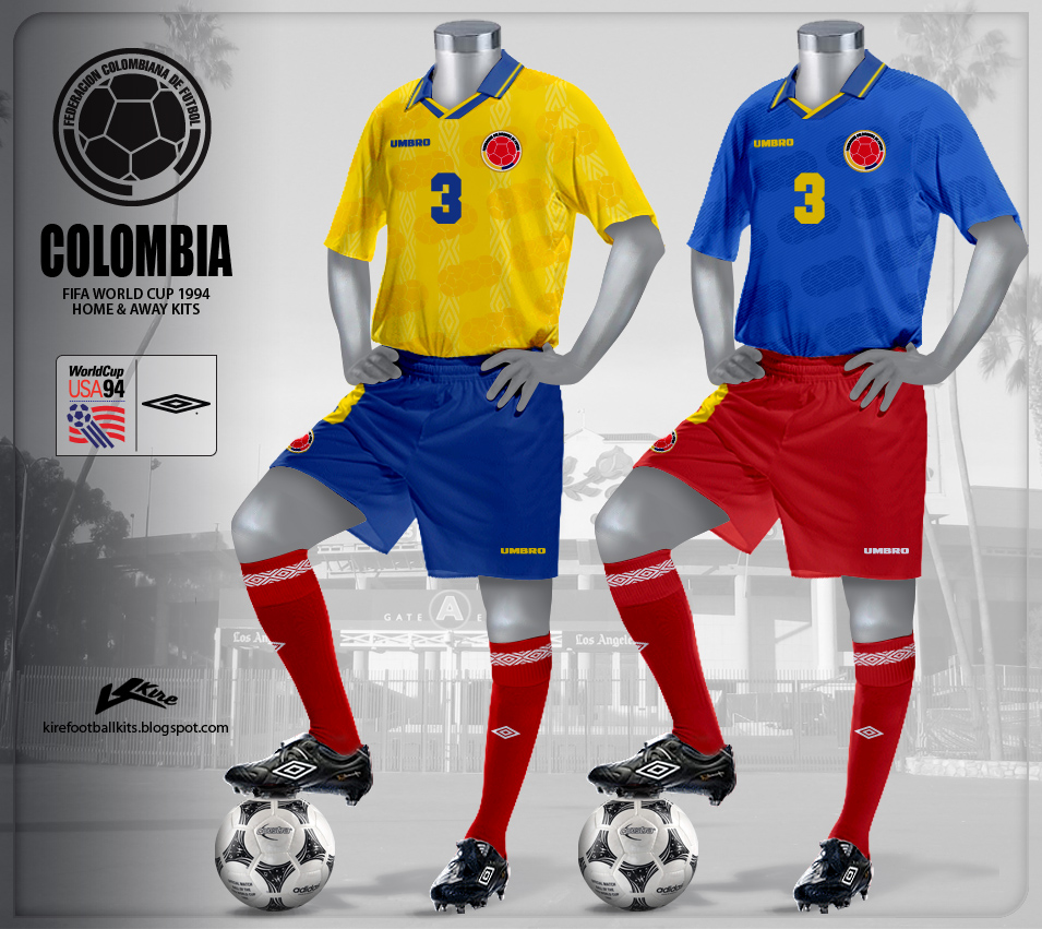 081409c1af5 ... the Colombian Federation logo with some variations between home and away  shirts. In the game vs Switzerland team, we could see yellow socks in home  kit ...