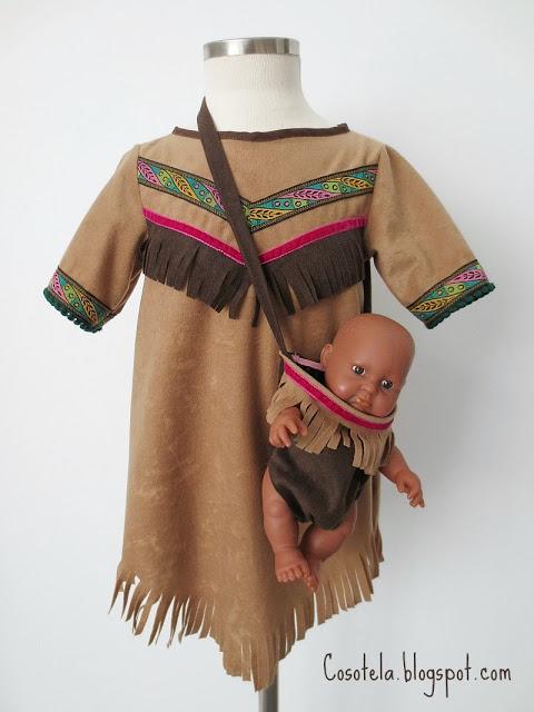 disfraz casero e indio para niños