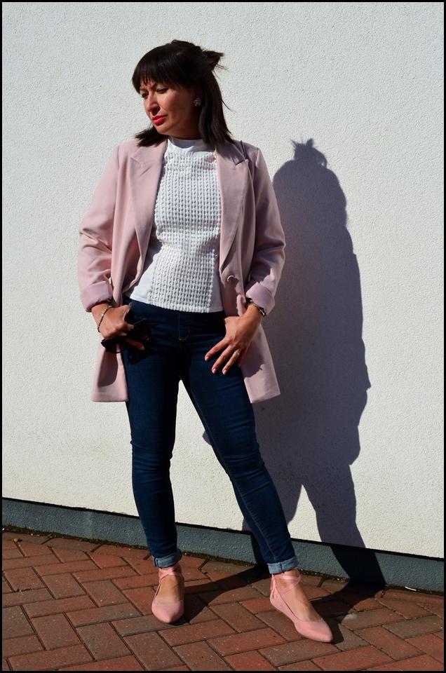 Adriana Style, Ballet Shoes, biała koszula, Blazer, blog modowy Puławy, Blogerka Modowa, bonprix, Fashion, Fashion Blogger, Furla Bag, ASOS Jeans, jeans, Zaful shirt, bluzka zaful, Jeansy, Kobieta, Lato, moda, Styl, Style, Summer, White Shirt, Żakiet, Fashion blog, torebka furla, żakiet bonprix, jeansy asos