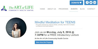 Mindful Meditation for TEENS at The Art of Life Community Health Centre