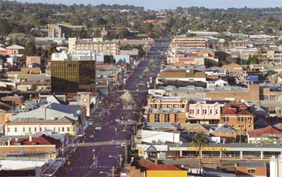 Main street of Toowoomba, allegedly the 'most haunted city in Australia'.