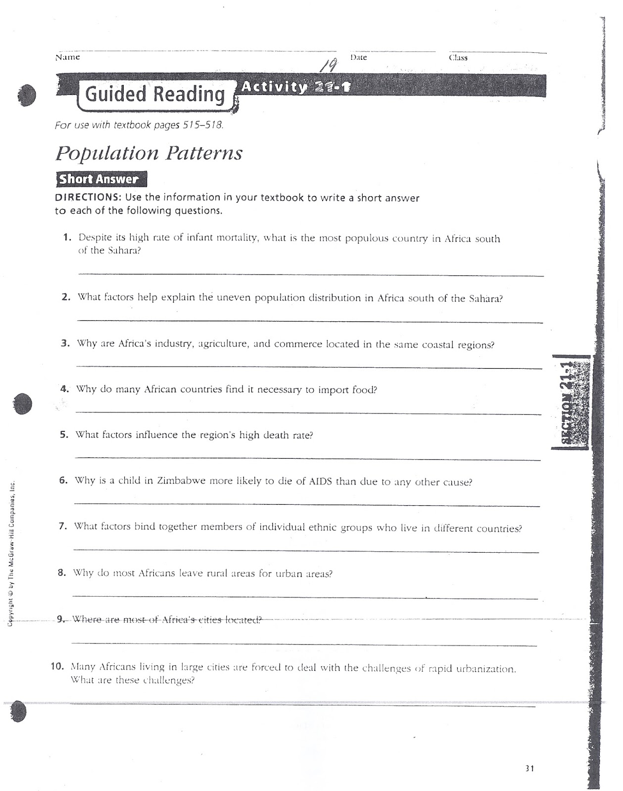 mr e s world geography page world geography 2018 chapter 20 rh acewg blogspot com guided reading activity 21-1 answers us history guided reading activity 21-1 east africa answer key