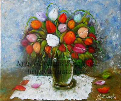 натюрморт тюльпаны
