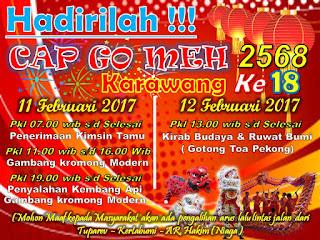 Kirab Budaya Cap Go Meh,  Jalan Tuparev Ditutup Jam 10 Pagi