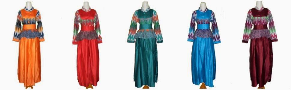 Model baju batik gamis satin