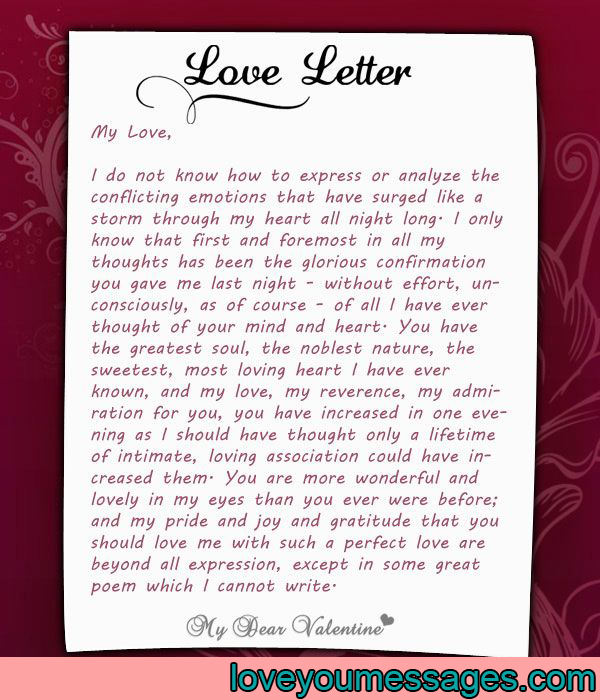 Beautiful Deep Love Letters For Her