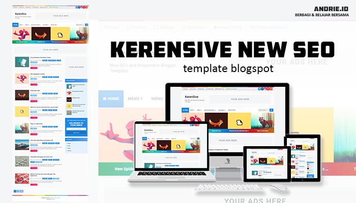 KerenSive Blogger Template Gratis dan SEO Friendly