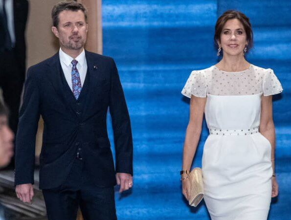 Queen Maxima wore Jan Taminiau jumpsuit,Princess Mary wore Maria Fekih wedding dress, Princess Victoria wore Ida Sjostedt dress