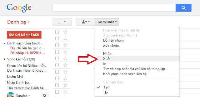 Cách chuyển danh bạ qua lại giữa Google và Thiết bị khác