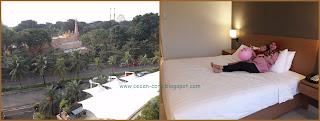 Epi Friesta Dewi Hasibuan dan Clarissa Astrid Sofia Friezcen di Deluxe Room Discovery Hotel and Convention Ancol