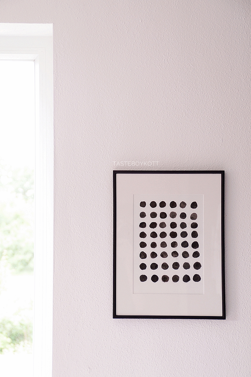 DIY self made black and white graphic print