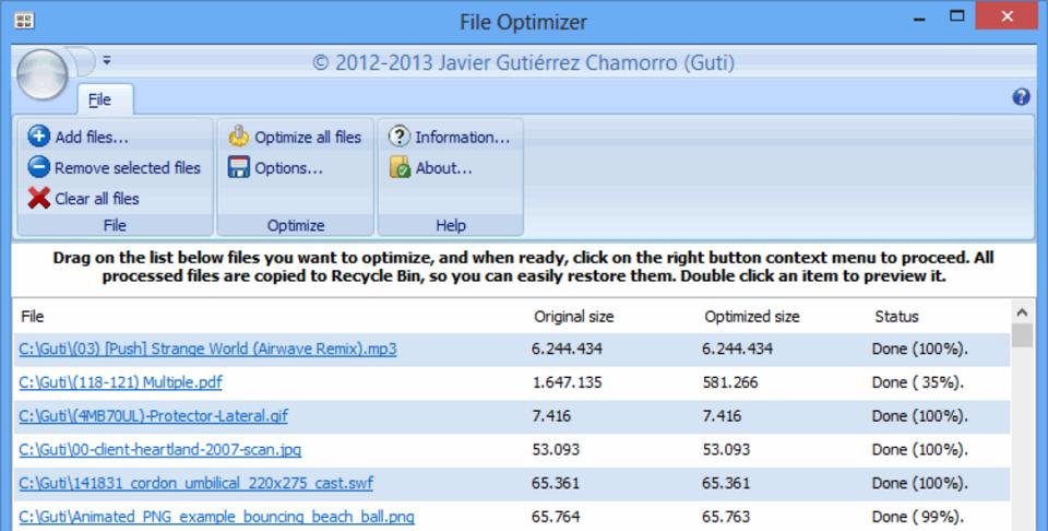 FileOptimizer 各類型檔案減肥工具