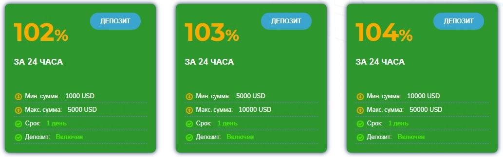 Инвестиционные планы Bitinter 3