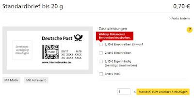 Screenshot: Details zur Marke auswählen