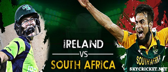 Broadcast of Ireland vs South Africa on TV Channels