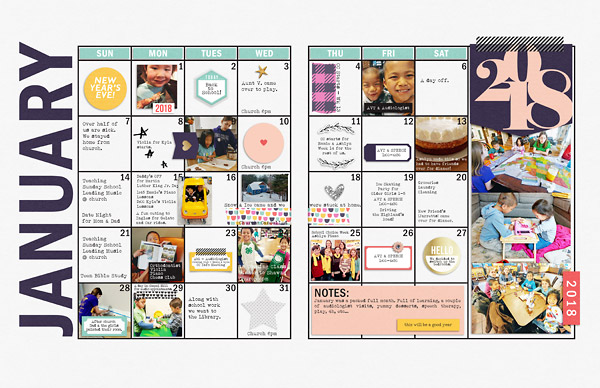 planner pages scrapbook digital hybrid