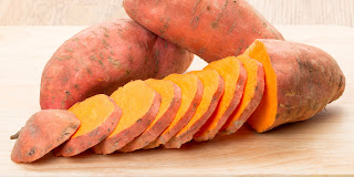 perfect diet with sweet potato to be fit  and health