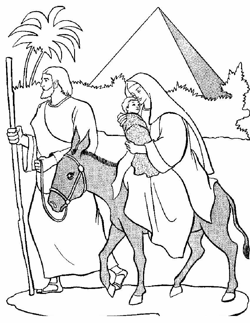 El Renuevo De Jehova: Huida a Egipto - Imagenes para colorear ...