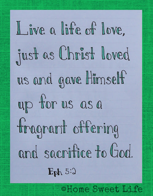 Scripture Writing, Ephesians 5:2