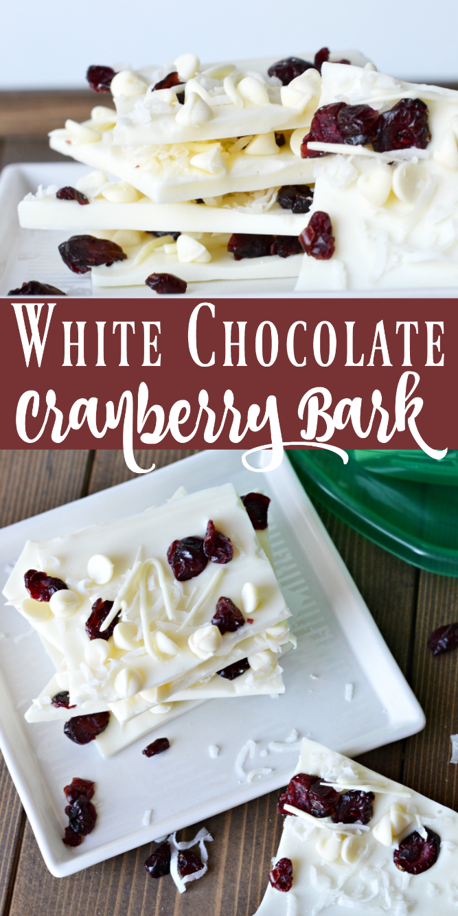 The Life of Jennifer Dawn: White Chocolate Cranberry Bark