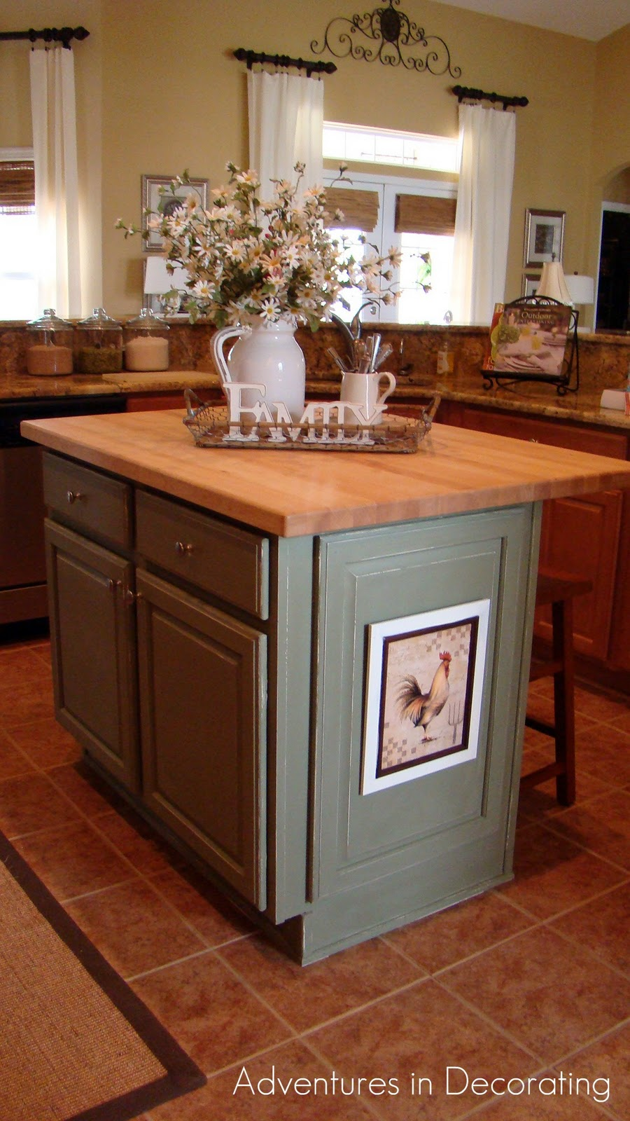 Adventures in decorating an affair with paint - How to decorate a kitchen island ...