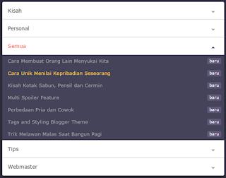 Widget Daftar Isi Blog Style 5