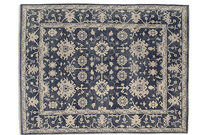 Blue Area Rug from Restoration Hardware | 20 Classic Style Rugs for Any Budget at www.andersonandgrant.com