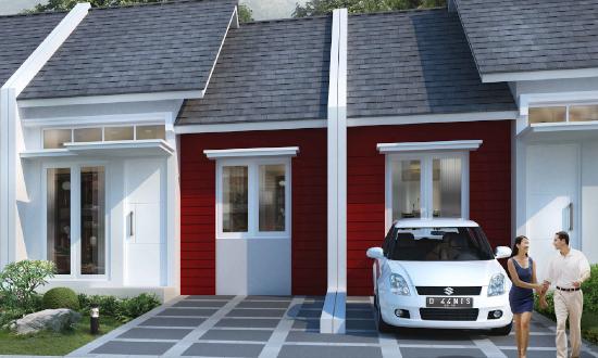 tampak depan Rumah minimalis Ukuran 6x12 meter 2 kamar tidur 1 lantai