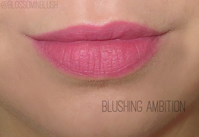 a picture of L'Oreal Infallible Pro Matte Gloss in Blusing Ambition (lip swatch)