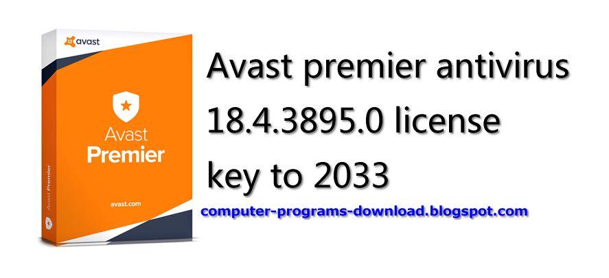 avast premier key 2018 free