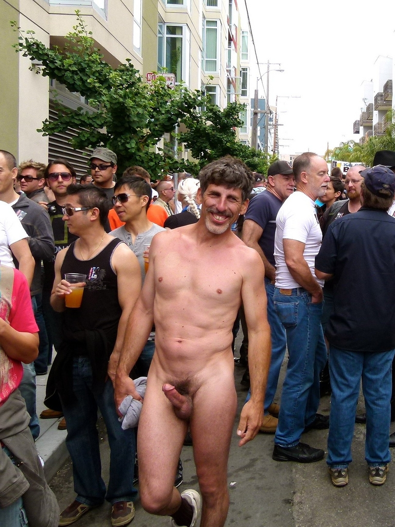 public in naked men