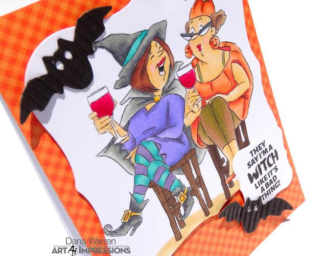 Dana Warren - Kraft Paper Stamps - Art Impressions - Spectrum Noir Markers - Halloween