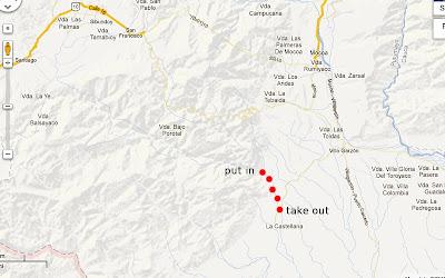 map of Rio putumayo, chris baer, colombia