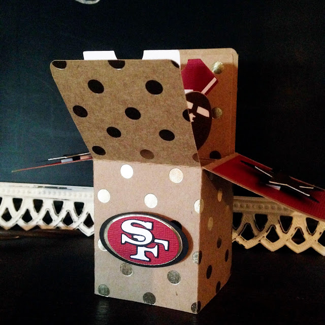 card, paper crafting, card making, 49ers, NFL, football, birthday