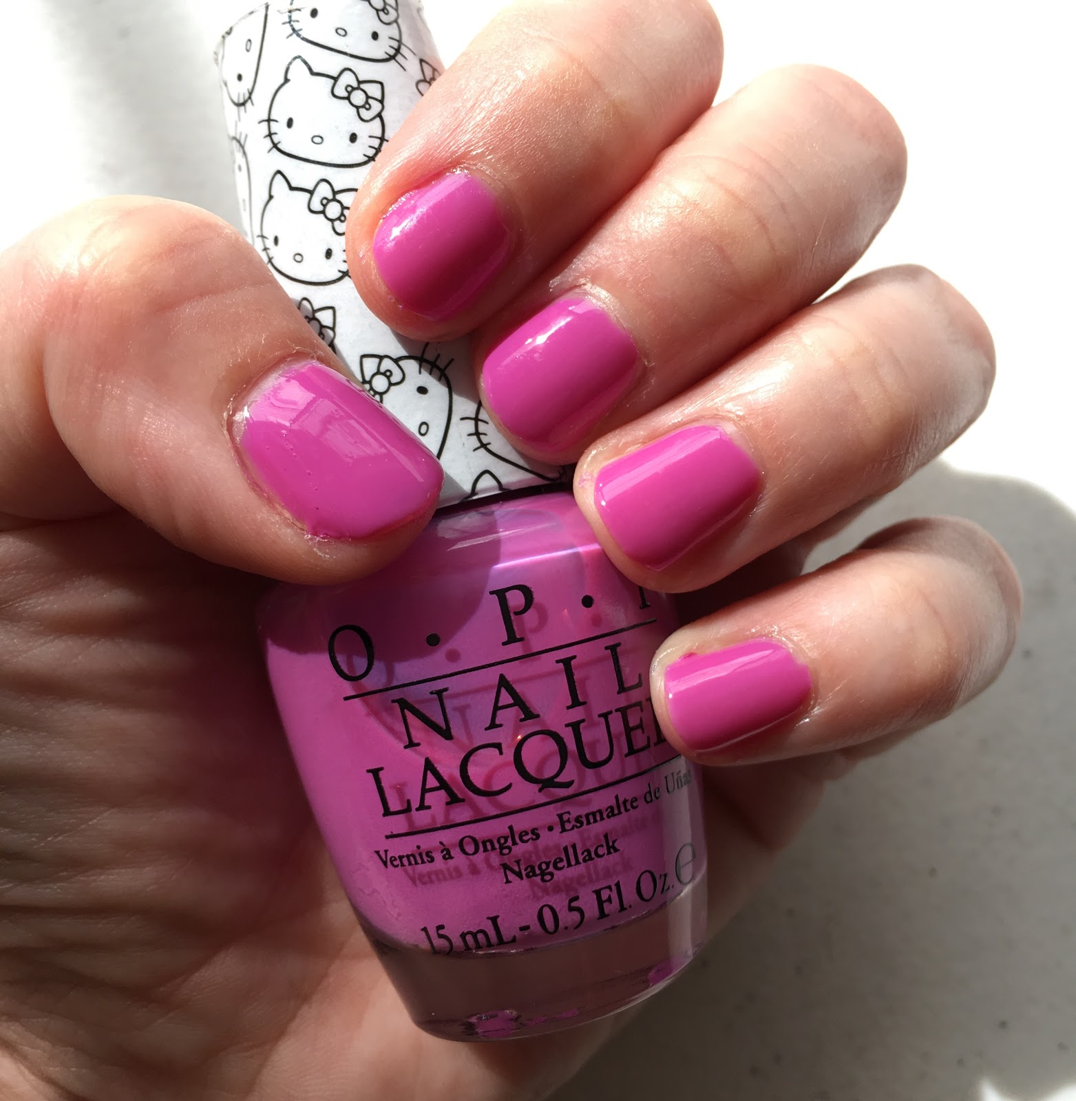 the beauty of life: #manimonday: hello kittyopi super cute in pink