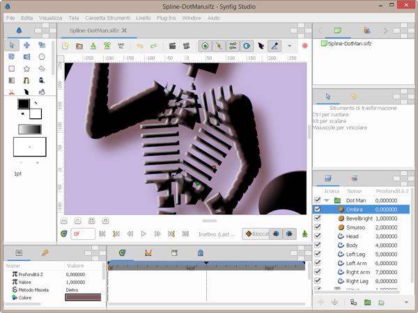 Synfig studio programma gratuito per creare animazioni for Programma per disegnare in 3d facile