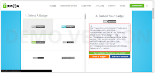 Cara daftar Dan Memasang DMCA Di Blogger