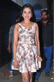 Actress Madhu Shalini Stills in Floral Short Dress at RGV Shiva to Vangaveeti Event  0070.JPG