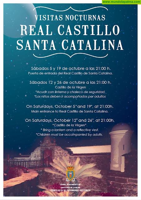 El Ayuntamiento de Santa Cruz de La Palma amplía a octubre las visitas guiadas al Castillo de Santa Catalina