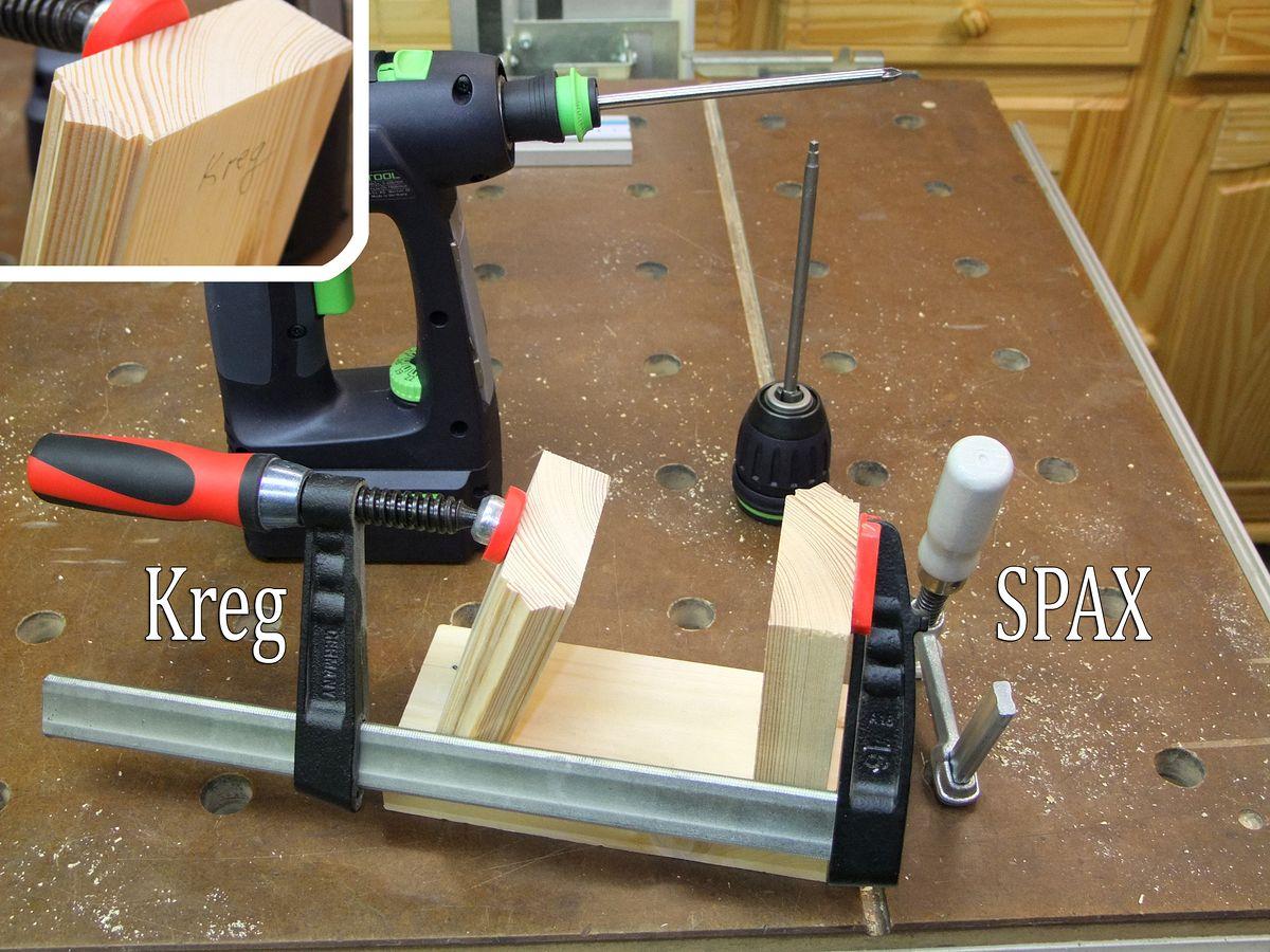 Michas Holzblog Tipp Alternative Pocket Hole Schrauben Spax