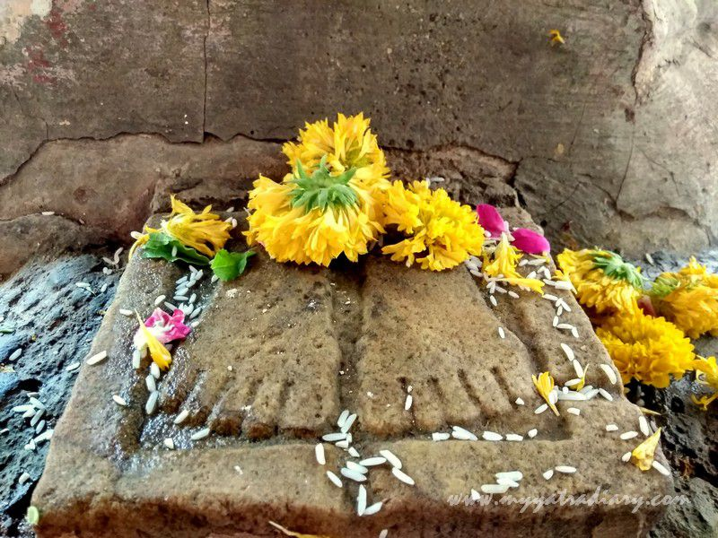 Budddha Footprints at Dhundiraj Ganesha Temple, Vadodara, Gujarat