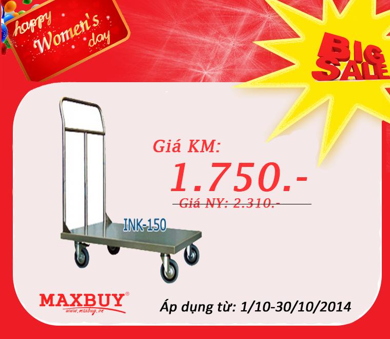 Khuyến mại Xe đẩy hàng innox INK-150