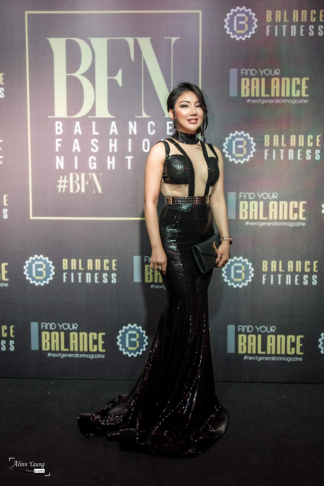 Nang Thiri Maung Fashion Outfit at Balance Fitness Opening Day