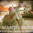 A look inside the custom plushie process - Mantis shrimp