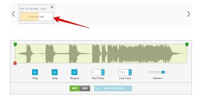 Proses Upload Lagu untuk di jadikan ringtone