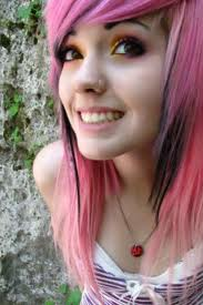 Leda Monster Bunny: PINK & BLACK HAIR