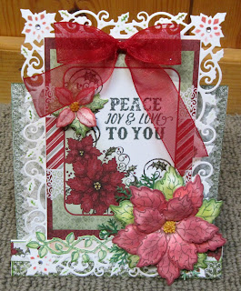 Heartfelt Creations Sparkling  Poinsettia, Heartfelt Creations Celebrate the Season, Christmas Cards, Spellbinders.