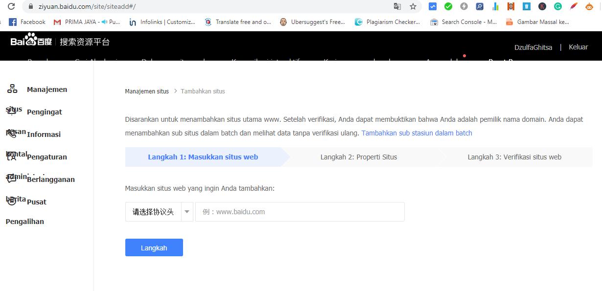 Tutorial Cara Mendaftarkan Blog ke Baidu Webmaster Tools