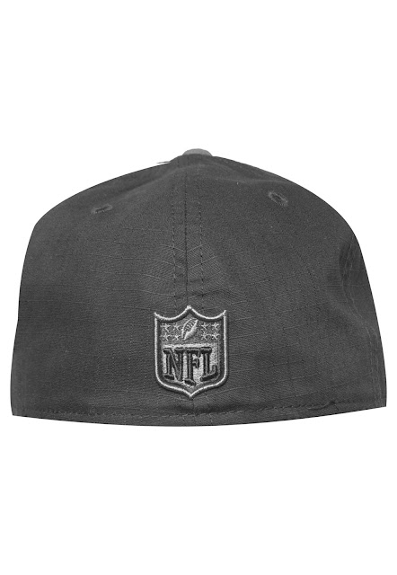 Boné New Era Rip Right Oakland Raiders preto, bordado frontal e aba reta